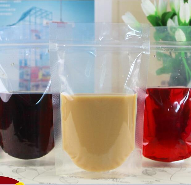Thick transparent ziplock Beverage bags packaged drinks juices milk tea coffee food 13cm*20cm 80PCS