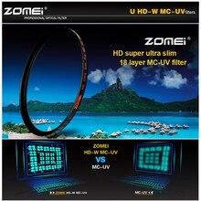 TRASPORTO LIBERO ZOMEI HD 40.5/49/52/55/58/62/67/72/77/ 82mm Ultra Sottile 18 Strati Multi Coated Pro MCUV Filter lens Protector