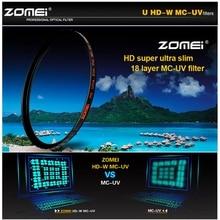 ZOMEI HD 40,5/49/52/55/58/62/67/72/77/ 82mm Ultra Slim 18 Schichten Multi Beschichtet Pro MCUV Filter objektiv Beschützer