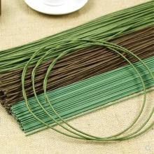 2mm *40cm/2mm *60cm Length green / coffee color paper with iron wire artificial flower stem 10pcs/lot