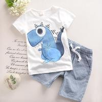 2T 6T 2017 New Toddler Boys Clothing Children Summer Boys Clothes Cartoon Kids Boy Clothing Set