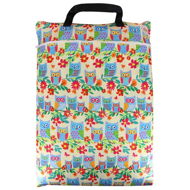 Animal Printed Polyester Diaper Bag