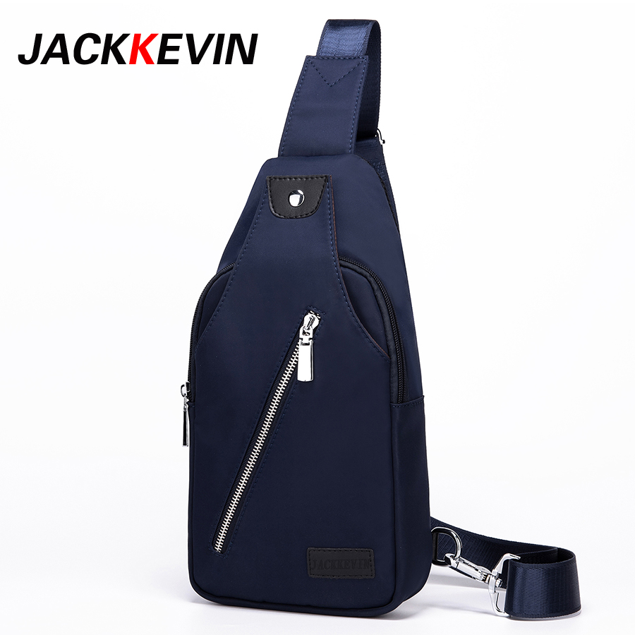 JACKKEVIN 2017 New Chest Bag Men Sling Bag Male Shoulder Waist BagHandbag Crossbody Bag Large Capacity Leisure Bag casual canvas satchel men sling bag