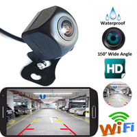 WIFI Car Rear View Camera Metal body Car Rearview Camera Car Park Monitor Mini Car Parking Reverse Backup Camera