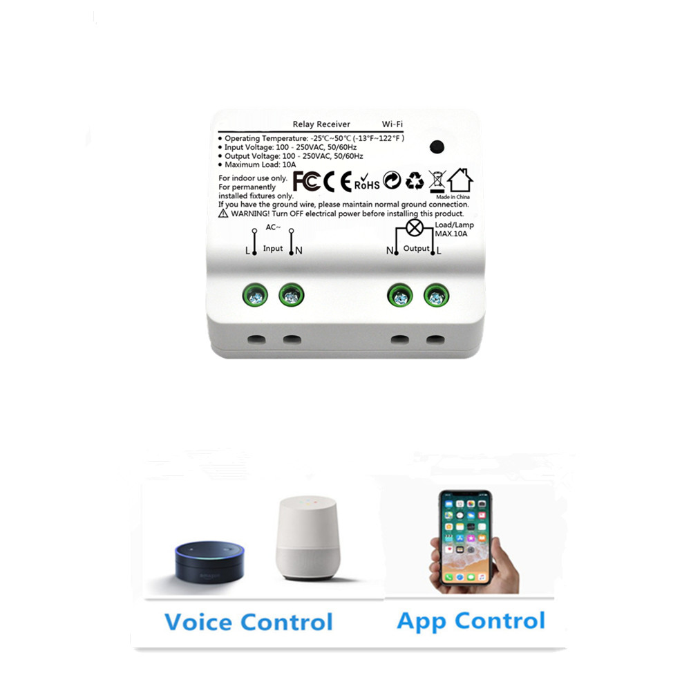 Tuya Smart Life WiFi Light Switch Circuit Breaker, Google Home Amazon Alexa  Echo Voice Control, Timer Function for Light Lamps