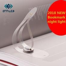 Новинка светильник в виде закладки Складная Лампа для книг креативный
