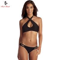 Ariel Sarah Brand 2017 Summer Black Bikini Swimwear Women Swimsuit Halter Bikinis Set Monokini Biquini Infantil
