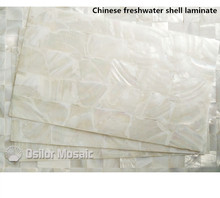 AAA grade natural surface white Chinese freshwater shell laminate for musical instrument and furniture inlay
