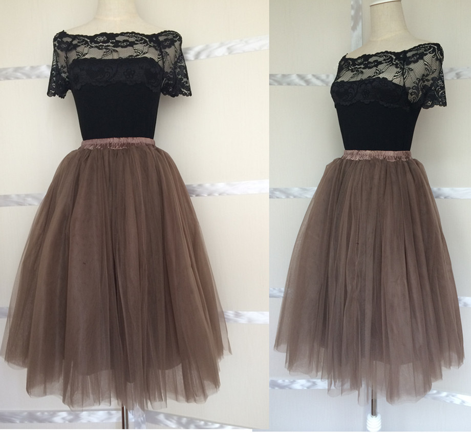 China Suppliers List Aliexpress Buy Coffee Brown Women Tulle Skirt Adult