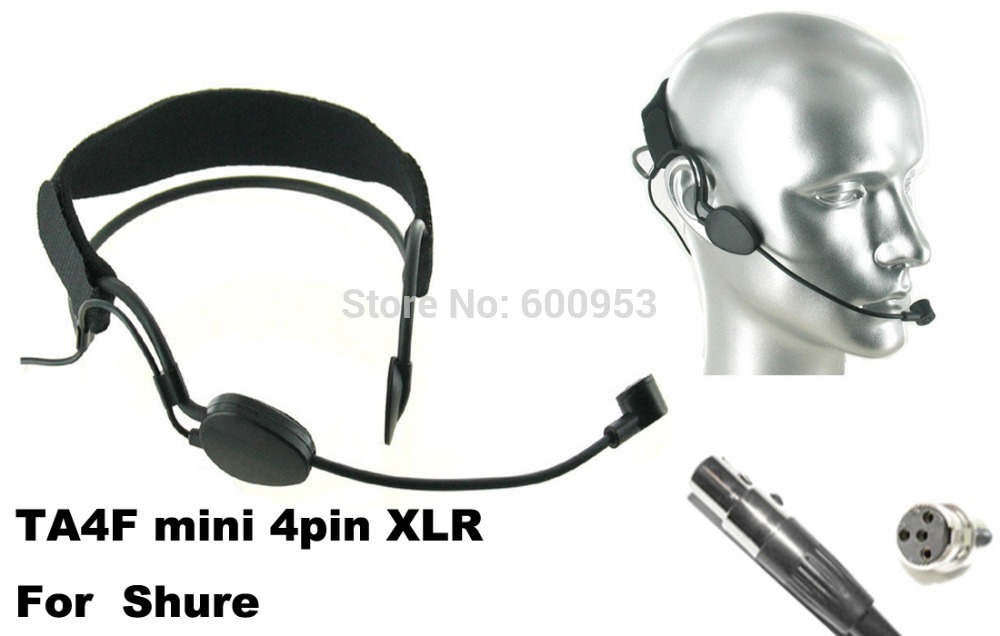 High Qulity Black Headset Head Microphone For Shure PGX SLX ULX UT ...  Wireless Mic System