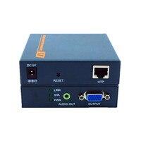 Super Quality 660ft Network VGA Over IP Audio Extender Via Ethernet Cat5e Cat6 1080P VGA LAN Video Transmitter Like VGA Splitter