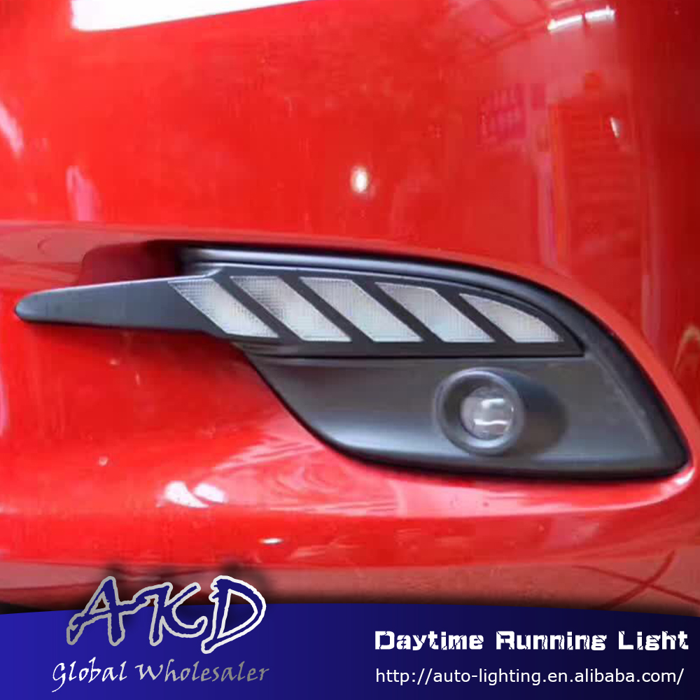 AKD Car Styling for Mazda 3 AXELA M3 2016 LED DRL for New Mazda 3 Turn Signal LED Running Light Fog Light Parking Accessories akd car styling for kia sportage r drl 2014 new sportager led drl korea design led running light fog light parking accessories