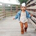 Boho Del Bebé Venda de La Pluma con el Rhinestone de La Perla tocado niña accesorios para el Cabello Diadema apoyo de la foto del bebé ajustable 1 unid