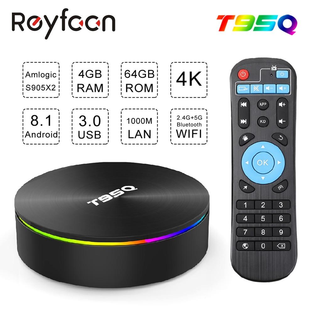 Android 8 1 TV BOX T95Q Amlogic S905X2 Quad Core X2 2 4G 5GHz Dual Wifi