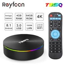 Android 8,1 ТВ коробка T95Q Amlogic S905X2 4 ядра X2 2,4G & Wi-Fi 5 ГГц двухъядерный процессор Wi-Fi BT4.1 1000 м H.265 4 K 60pfs Media Player Smart ТВ коробка