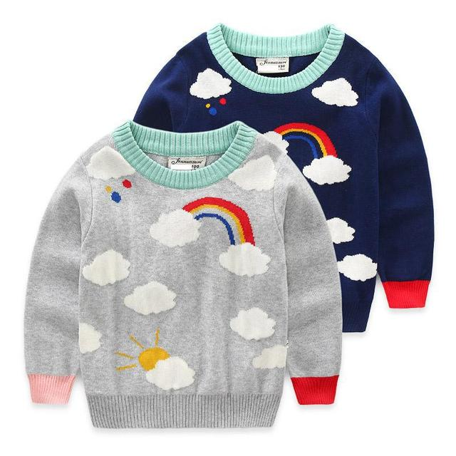 New Kids neonata maglioni Abbigliamento Sveglio dei ragazzi cappotto  Lavorato A Maglia Pattern di Nuvole Bambini f0c6d20ad11