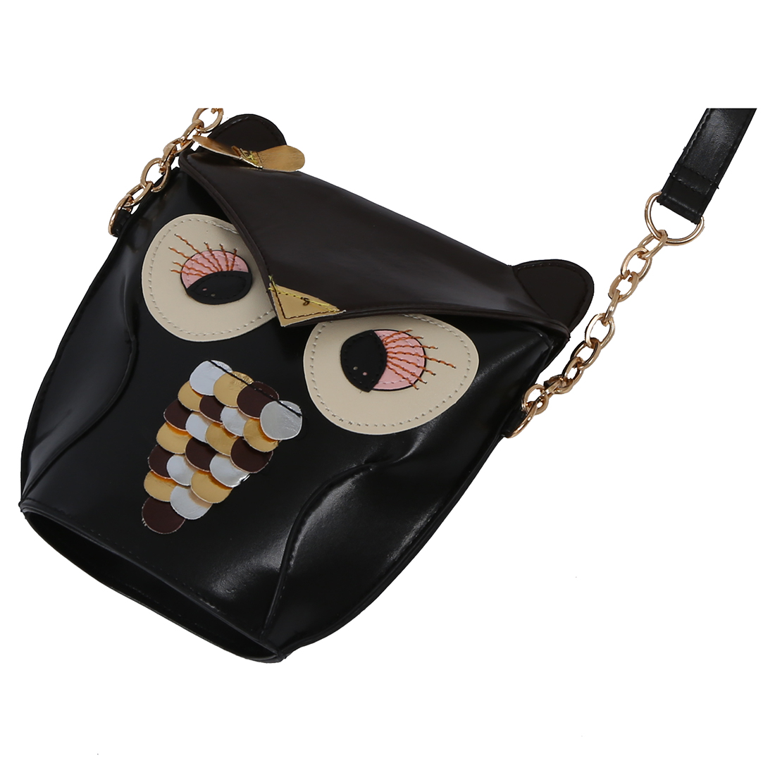 SNNY -Ladies Fashion Adjustable Owl Pattern Chain Shoulder Bag