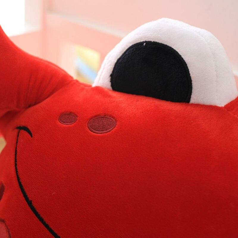 1pc Staffed Cute Crab Plush Pillows Creative Birthday Gift Cartoon Steamed Crab Plush Toys Kids Doll Sofa seafood Cushion