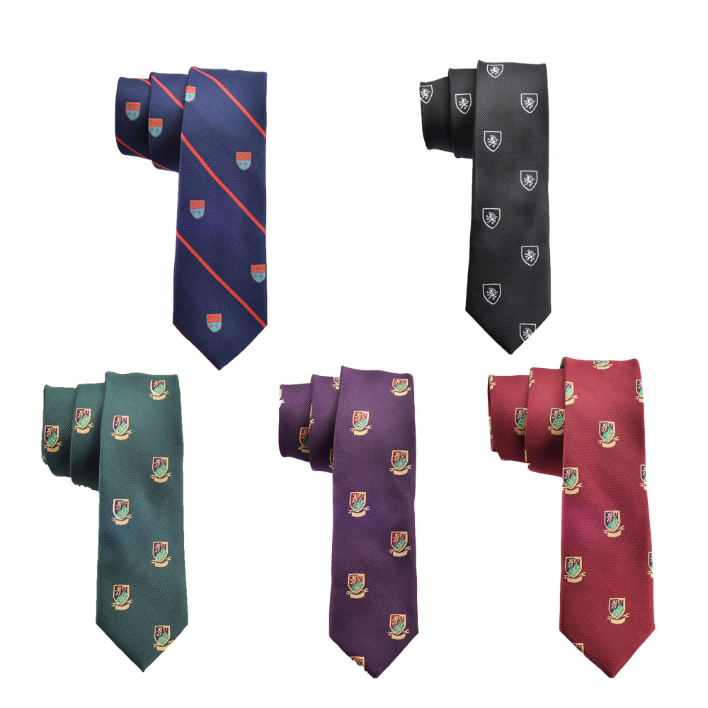 High Density Jacquard Logo Ties for Men Slim Necktie Purple Green Red Navy Designer Fashion Skinny Ties Wedding Panties