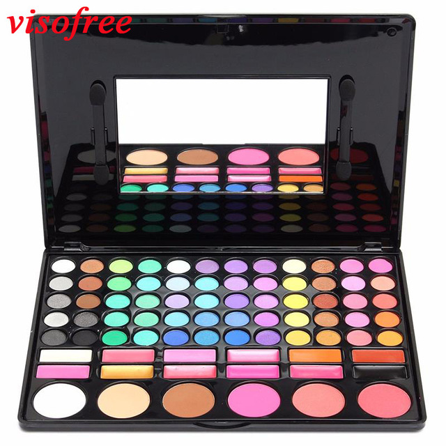 Popfeel 78 Colors Matte Eyeshadow Palette Professional Lasting Make Up Cosmetics Shades Natural Eye Shadow Set