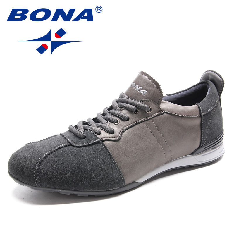 BONA New Fashion Style Men Casual Shoes Lace Up Men Shoes Suede Male Loafers Comfortable Men Flats Light Soft Fast Free Shipping cbjsho brand men shoes 2017 new genuine leather moccasins comfortable men loafers luxury men s flats men casual shoes