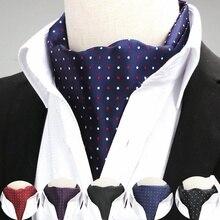 5f402b924 باندانا Bufandas ريال عرض الكبار من الهند الشتاء وشاح دي مزدوجة الوجه الحرير  الذكور ربطة عنق البولكا نقطة دعوى الأزياء قميص