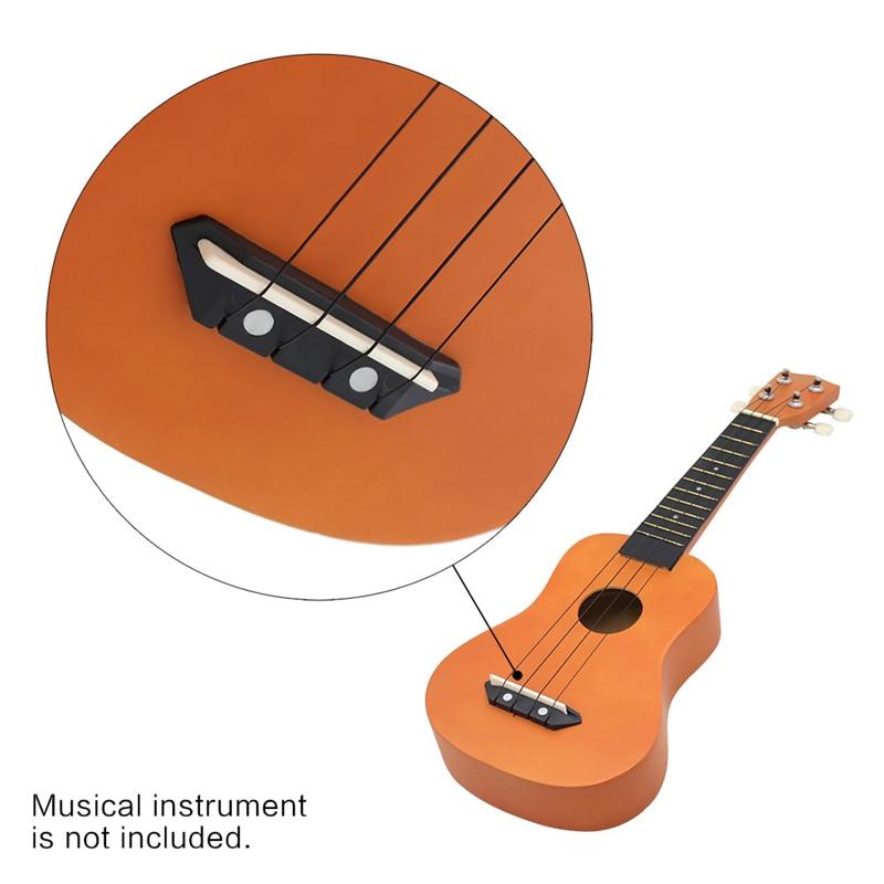 Black/White Ukulele String Guitar 4 Strings Soprano Concert Nylon Hawaii Ukulele Strings kapok dgs28 43 silver plated nylon strings for classical guitar transparent silvery white