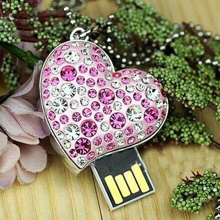 d213b9c7487a67 Roze Hart Sieraden Gadget Gift Pendrive 2 tb 1 tb Memoria Usb Key ...