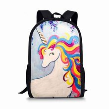 Schule Taschen Original Designer Einhorn Druck Kinder Mädchen Teen Rucksack 2019 Marke Laptop Mochila Mode Koreanische stil Bolsa Lol(China)