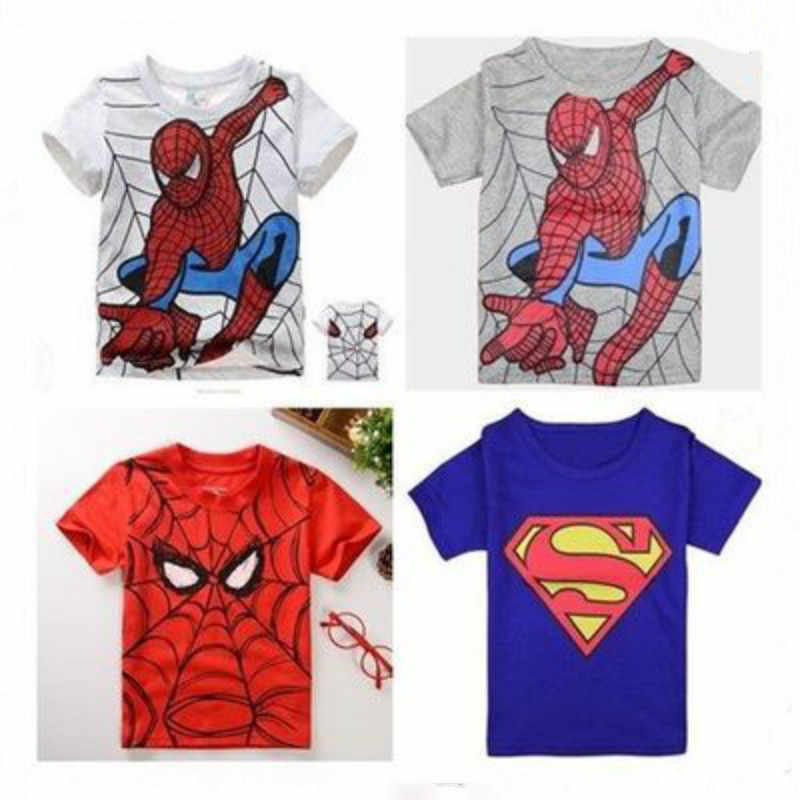 7d574734 Detail Feedback Questions about New Summer Style Cotton Boys Short Sleeve T  Shirts Spiderman Superman Kids Clothing Tee Child's Clothes Cool Girls O  Neck ...