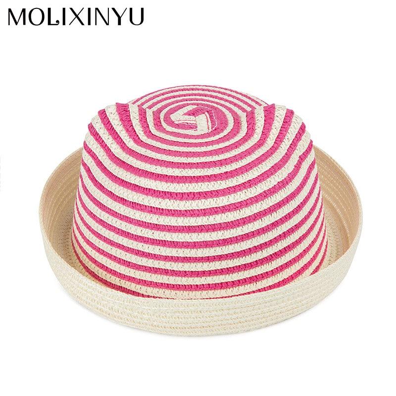 Mother & Kids Accessories Molixinyu Baby Cap Girls Straw Hat Cute Ears Children Summer Cap For Girls/boys Bucket Hat Baby Boys Beach Caps Sun Baby Hat