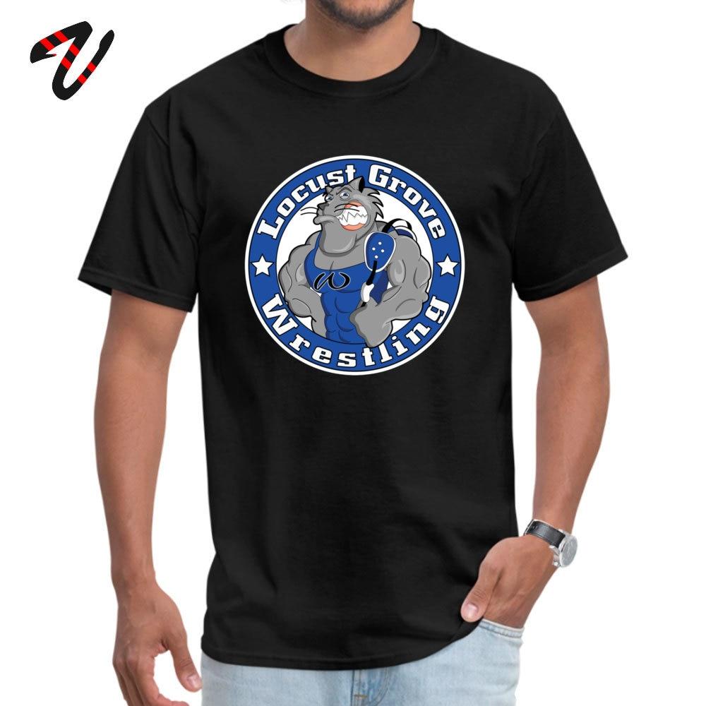 Locust Grove Wildcat Wrestling Geek T Shirt for Men Kurt Cobain Fabric Summer Autumn T Shirt Tops T Shirt Family O Neck