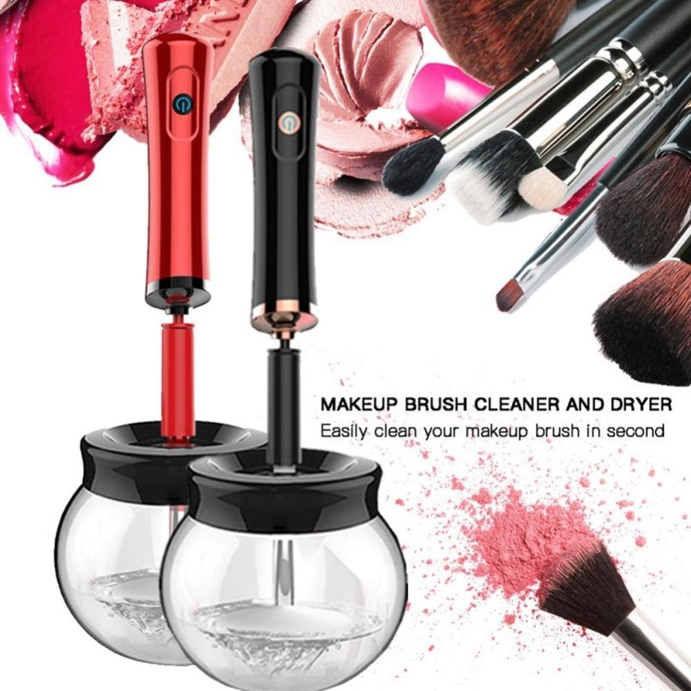 Elektrische Make-Up Pinsel Reiniger Bequem Silikon Make-up Pinsel Waschen Reiniger Reinigung Werkzeug Maschine Neue Neue