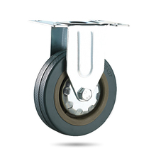 Набор Heavy Duty 75×21 мм Резина поворотный Колёсики Колёса Тележка МНЛЗ тормоз 50 kgmodel: 4