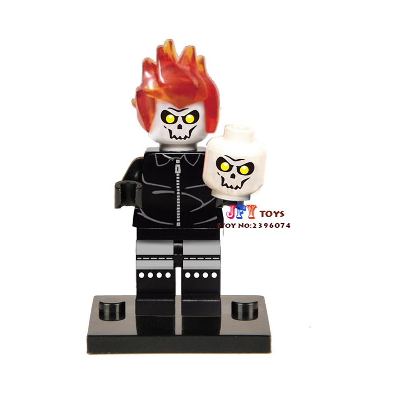 50pcs superhero Ghost Rider building blocks bricks friends for girl boy kids children toys brinquedos menina