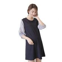 Новое модное платье для беременных женщин; сезон лето-весна; Одежда для беременных; свободные платья для беременных; большие размеры