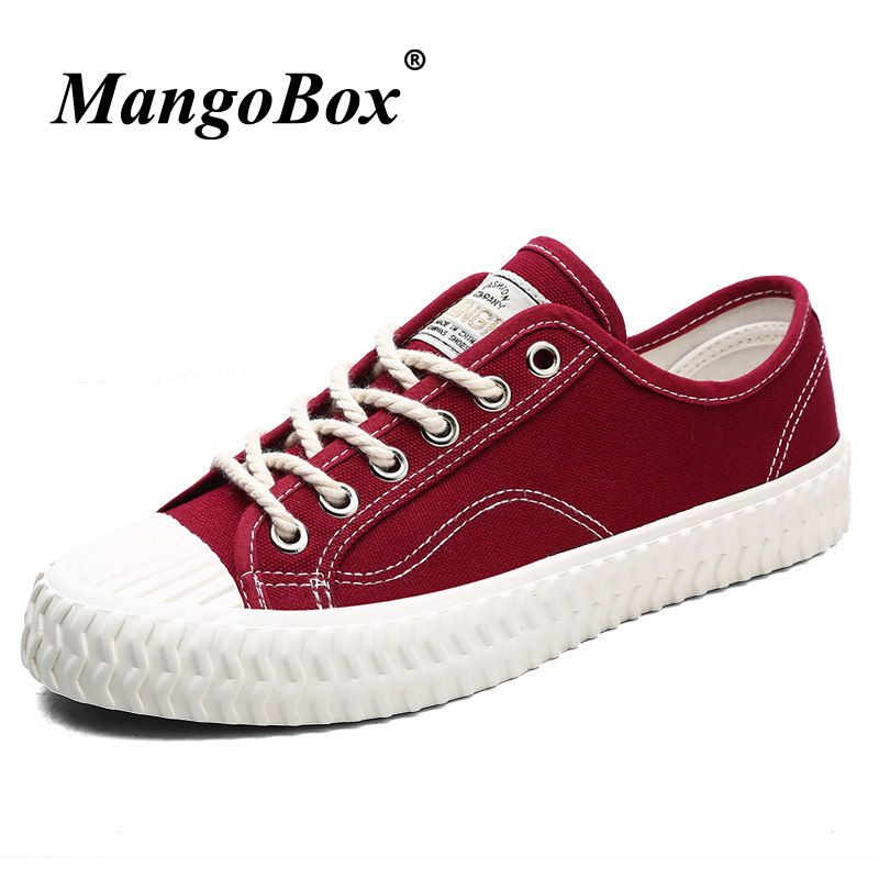 New Arrival Canvas Shoes Men Red Green Fashion Casual Canvas Sneakers Luxury Men Footwear Rubber Bottom Male Flats Walking Shoes