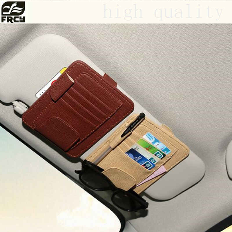 New Auto Car Sun Visor Clip for Sun Glasses Sunglasses Credit Card Pen Holder Clip Multifunctional Storage Bag Fastener Clip Mat auto rain shield window visor car window deflector sun visor covers stickers fit for toyota noah voxy 2014 pc 4pcs set