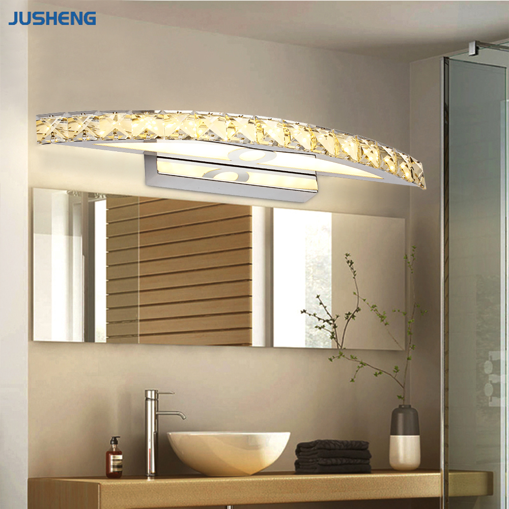 Hot Selling Chrome 10W LED Wall Lights with Crystal Top Mirror Lamp ...