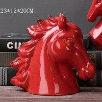 Nordic style modern minimalist home decorations creative home accessories ceramic horse head ornaments
