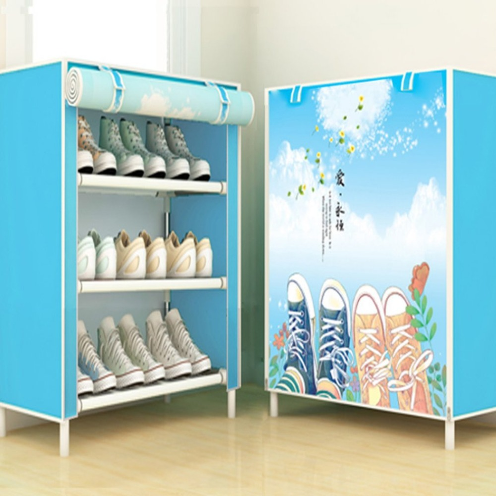 Cabinet:  Shoes Cabinet Simple Shoe Rack With Cover Multifunctional Shoes Storage Organizer Large Capacity Home Furniture - Martin's & Co