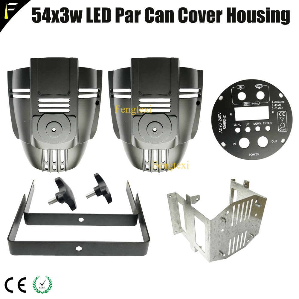 NEW Stage LED Light Par 54x3w 54*3 Cover Housing Spare Parts 18x12w 18x15w 100w 200w COB LED Par Can Cover Housing Replacement