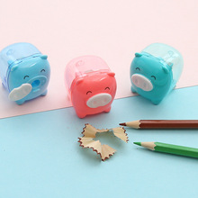 Pencil-Sharpener Kawaii Stationery-Random Animal-Pig School-Supplies Colored Korean Cute