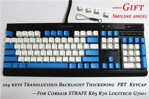 Image 2 - MP 108/87 מפתחות Translucidus תאורה אחורית PBT Keycap עבור Corsair לבזוק K65 K70 Logitech G710 + Wired USB מכאני מקלדת Keycap