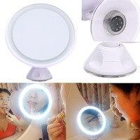 Makeup Tool Kit Cool LED Makeup Mirror 360 Rotating Magnifying Lighted Vanity Tabletop Bathroom Mirror Portable Cosmetics Tools