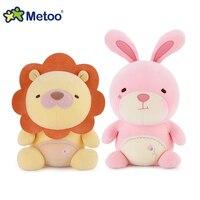 Oryginalny wysokiej jakości pluszowa przytulanka Metoo zabawki Panda, królik, misia, lew miękkie nadziewane lalki dla dziewczyn i chłopców zabawki dla dzieci prezenty