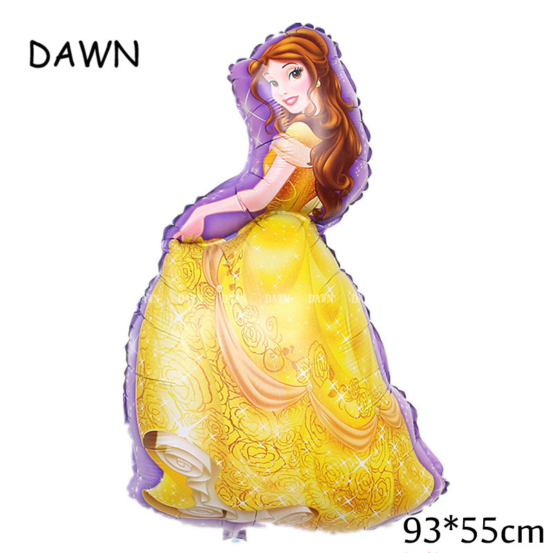 Large Belle Cinderella Princess Snow White Balloons For Baby Birthday Party Decoration 1