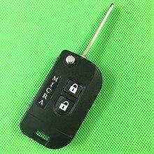 1/lot 2 Кнопки Замена Изменения Флип Складные Дело Дистанционная Ключевая Для Nissan Micra Брелока Крышка