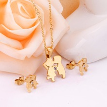 Stainless Steel Necklace+Earrings Set