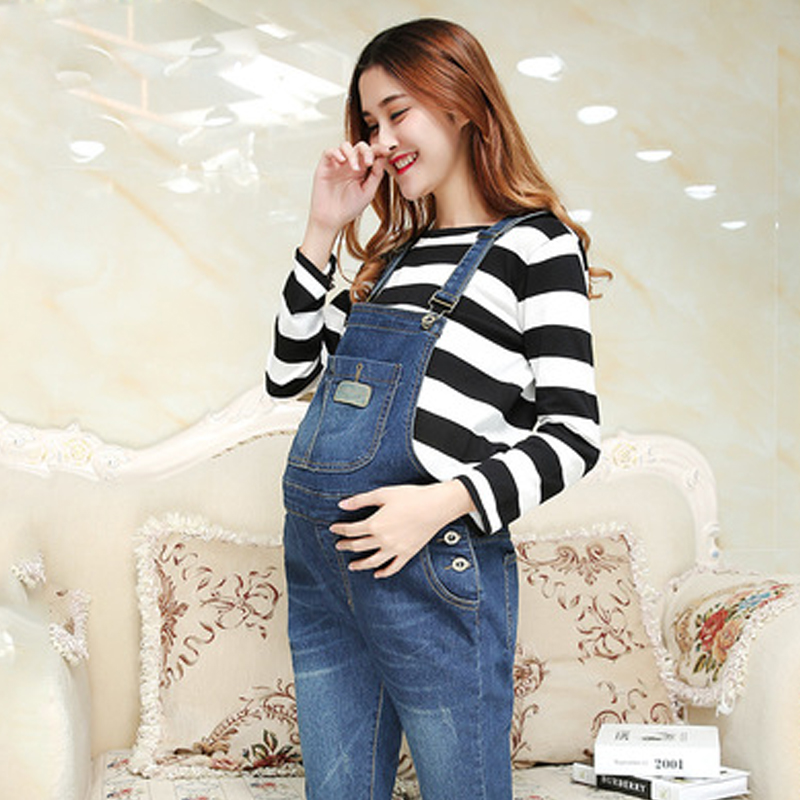 Jeans Pants Spring and Autumn Elasticity Women Jeans Maternity Pants Uniforms Lifting belly Trousers Maternity Pregnant Clothing